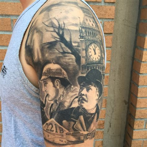 nothing sacred tattoo sherlock portrait by hector moreno yelp