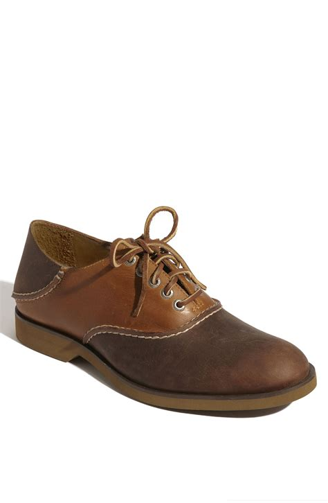 saddle oxford shoes sperry top sider boat oxford saddle shoe in brown for