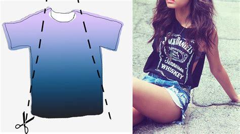 diy ideas t shirt makeovers pretty designs 5 diy summer ideas to cut your t shirts shirt makeover diy clothes and clothes