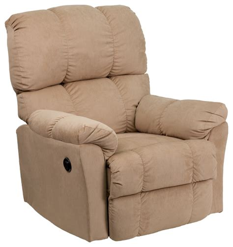 Push Button Recliner Chairs flash furniture top hat power recliner with push button