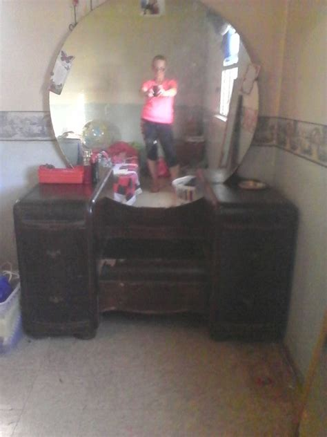 antique vanity dresser round mirror mirror my antique furniture collection