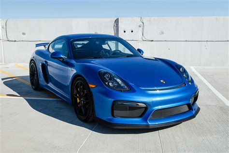 blue porsche 2016 2016 cayman gt4 sapphire blue pccb and buckets rennlist