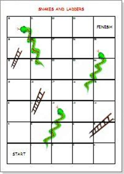 snakes and ladders printable template snakes and ladders editable template for use with word