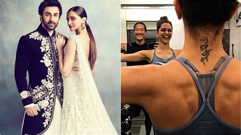 deepika tattoo it s much there deepika padukone s pics flaunting
