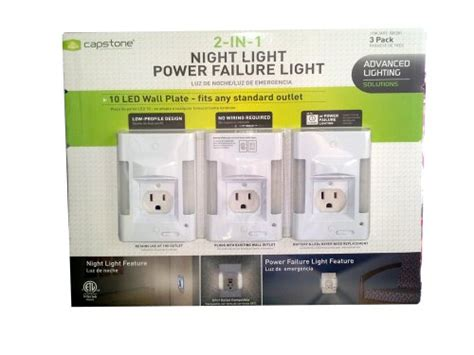 power failure night light capstone 2 in 1 led night light power failure light new ebay