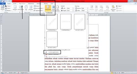 cara membuat watermark di word 2010 gusdegleng tutorial tutorial memberi watermark logo lewat microsoft word 2010