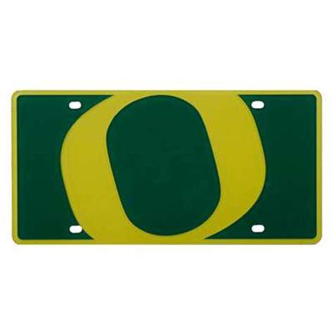 oregon duck colors oregon ducks color mega inlay license plate