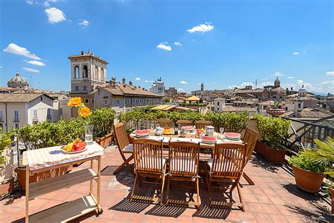 views   panoramic terrace roof garden  rome