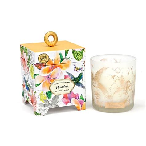 michel design home fragrance diffuser paradise renio clark michel design works small candle paradise collection
