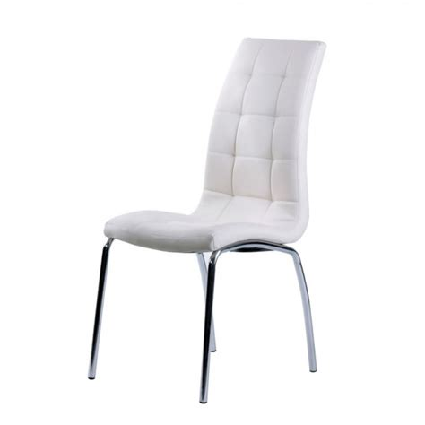 White Leather Dining Chairs Uk White Faux Leather Dining Chair