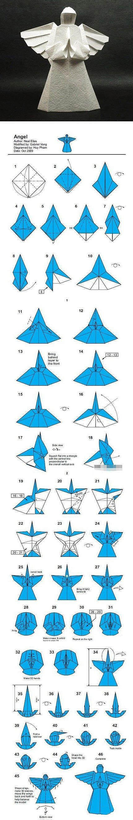 Origami Angle - origami i can see this being made with starch