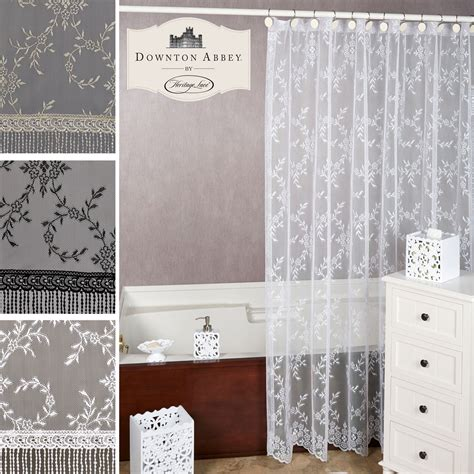lace shower curtains downton abbey yorkshire lace shower curtain