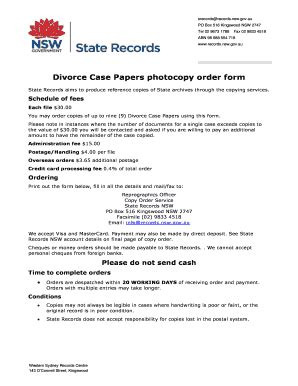 Australian Divorce Records Divorce Records Nsw Fill Printable Fillable