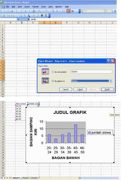 cara membuat grafik di excel 2003 cara membuat grafik sederhana dengan menggunakan microsoft