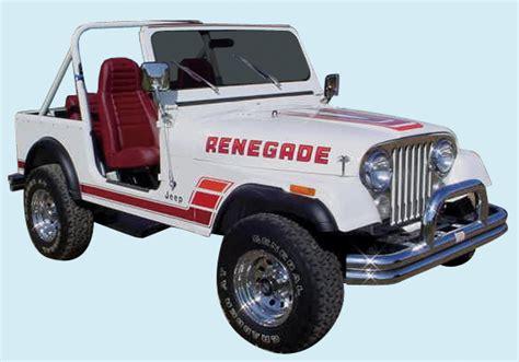 Jeep Renegade Decals Graphix 1983 84 Jeep Renegade Decal Kit