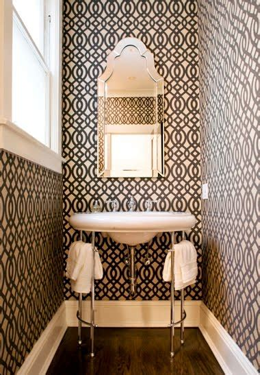 wallpaper powder room powder room