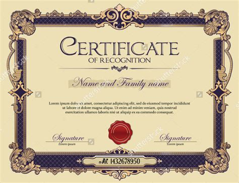 29 Certificate Of Recognition Templates Sle Templates Certificate Of Recognition Template