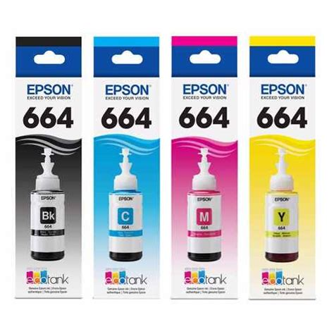 pack original de botellas de tinta epson t664 4 colores