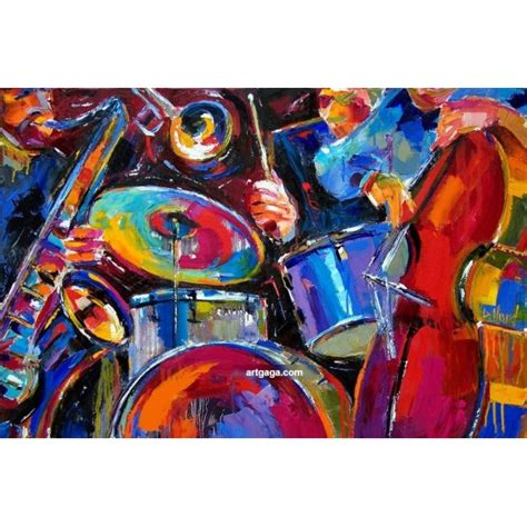 unique painting hand paint high quality abstract music paintings wall art