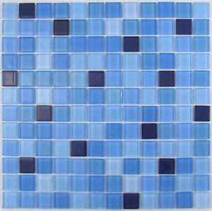 blue mix glass mosaic tile for bathroom kitchen