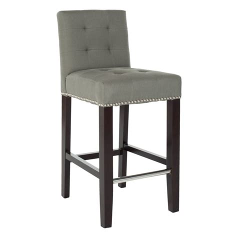 Button Back Bar Stool by Furniture Tufted Leather Adjustable Height Counter Bar