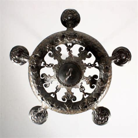Amazing Antique Five Light Cast Iron Tudor Chandelier Antique Cast Iron Chandelier