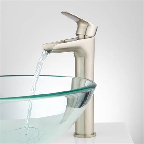 designer bathroom faucets pagosa waterfall vessel faucet bathroom