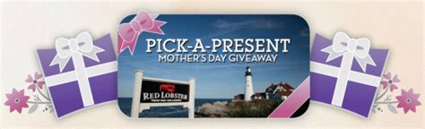 Red Lobster Sweepstakes - red lobster quot pick a present mother s day giveaway quot sweepstakes win a 50 red lobster