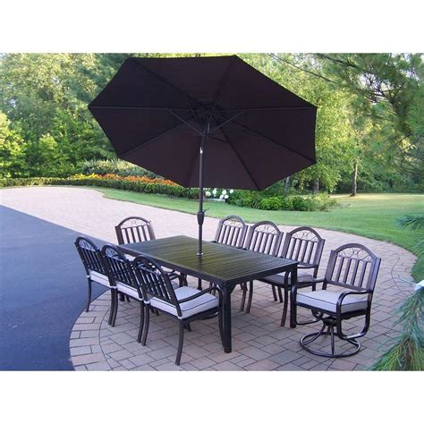 Patio Dining Sets Rochester Ny Oakland Living Rochester 9 Patio Dining Set With