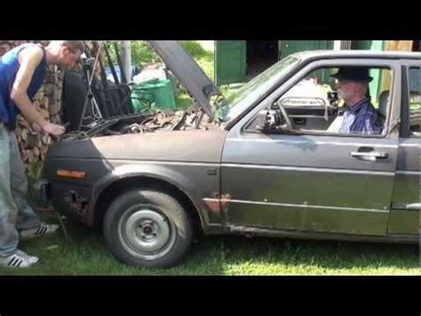 how does a cars engine work 1991 volkswagen golf lane departure warning vw 1 6l turbo diesel engine start 1991 vw jetta parts car youtube