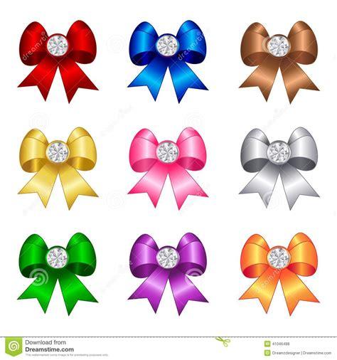 colorful bows ribbon bow stock vector image 41046488