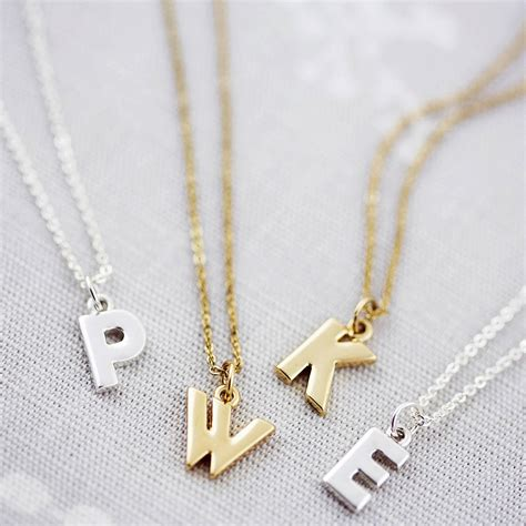 Letter Necklace Not On The High Personalised Chunky Letter Necklace By J S Jewellery