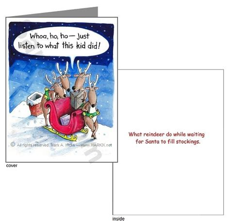 printable christmas joke cards what reindeer do greeting card