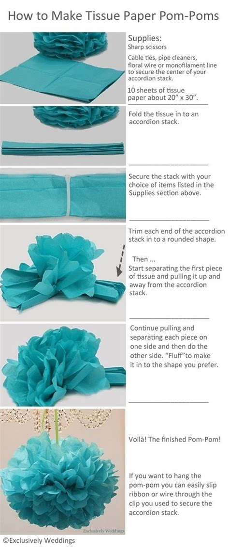 How To Make Tissue Paper Balls - best 25 tissue pom poms ideas on tissue paper