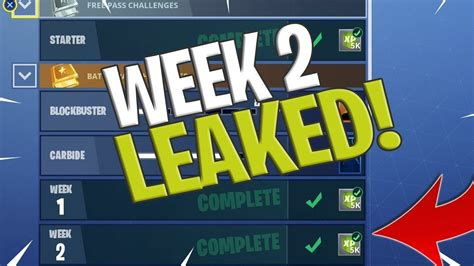 fortnite week 2 challenges fortnite week 2 challenges leaked fortnite season 4