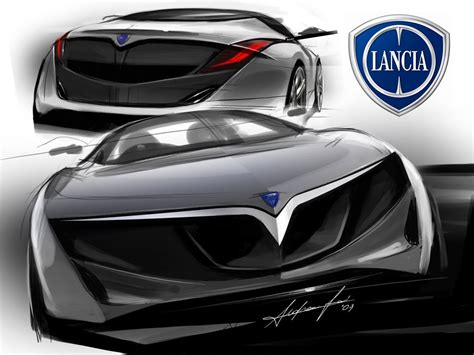 lada stilnovo lancia design sketches car