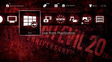 ps4 themes 20th anniversary resident evil 20th anniversary theme on ps4 official