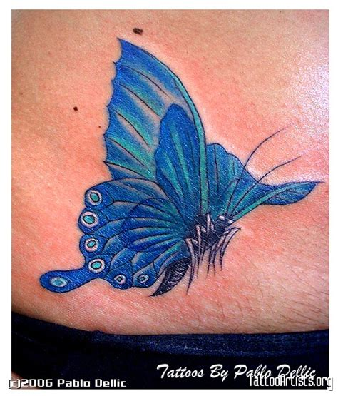 blue butterfly tattoo meaning blue butterfly tattoos