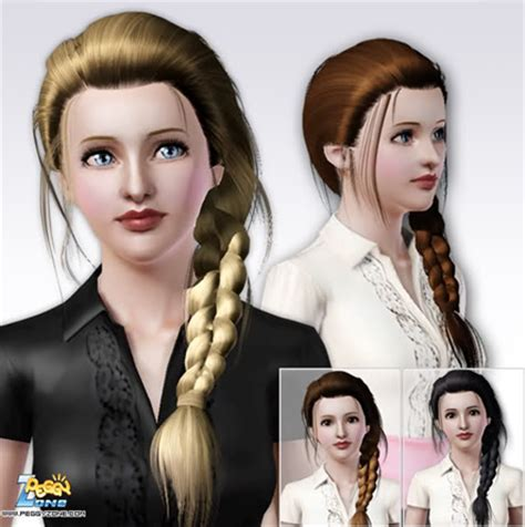 sims 4 custom content side braids sims 3 custom content download links inspiration