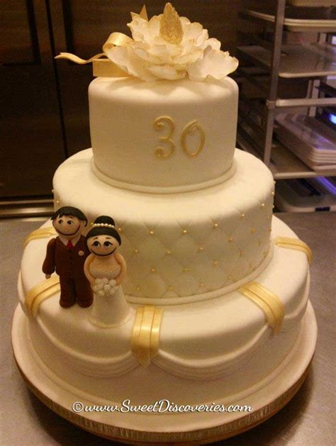 pin wedding cakes30 cake on pinterest 30th wedding anniversary cakes pictures to pin on