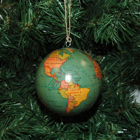 world globe earth christmas ornament ebay