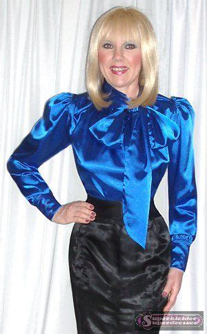blue satin blouse with bow www superdresses com dressing