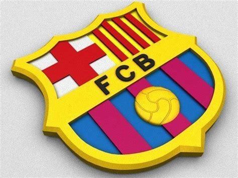 Barcelona Logo Kaos 3d Umakuka fc barcelona coat of arms 3d cgtrader