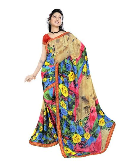 Blouse Fashion Bordirr bhavi fashion multocolour border work satin saree with blouse buy bhavi fashion