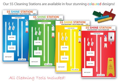 lean colors 5s cleaning station exclusive to fabufacture uk