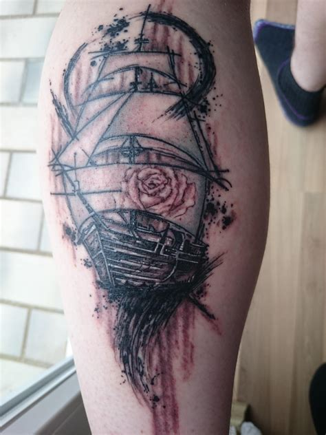 shadow rose tattoo ship with made by viktor of shadow winsen
