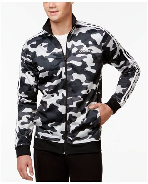 Adidas A039 Grey Sky Parka Jacket adidas s camo print track jacket in gray for grey black lyst