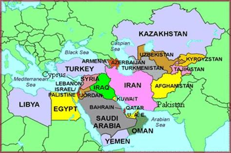 middle east map name the country 1975 to the present jonathan feicht s website