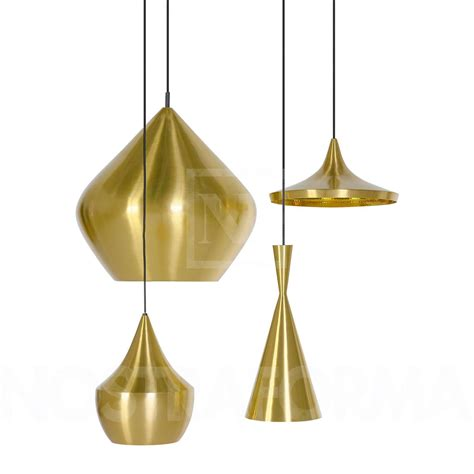 Brushed Brass Light Fixtures Tom Dixon Beat Light Wide Brushed Brass Pendant L 187 Modern And Contemporary Lighting
