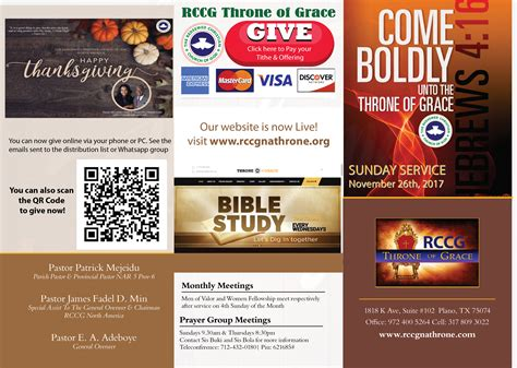 Scu Mba Bulletin by Rccg Throne Of Grace Enjoying God S Grace And Mercy